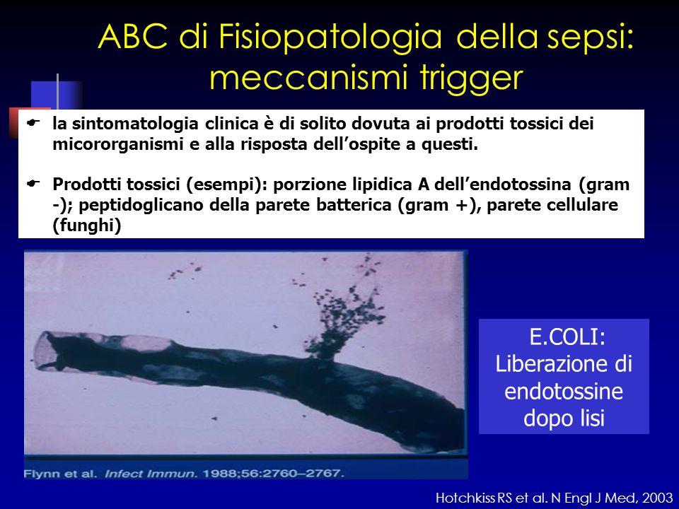 ABC di Fisiopatologia della sepsi: meccanismi trigger