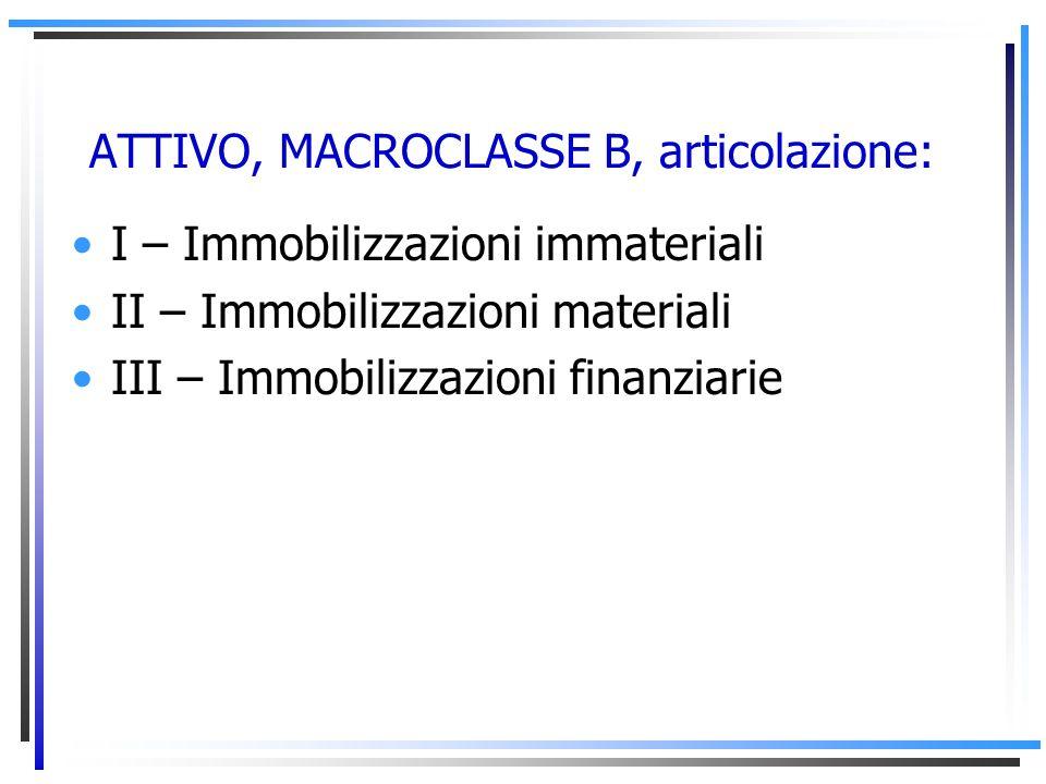 ATTIVO, MACROCLASSE B, articolazione: