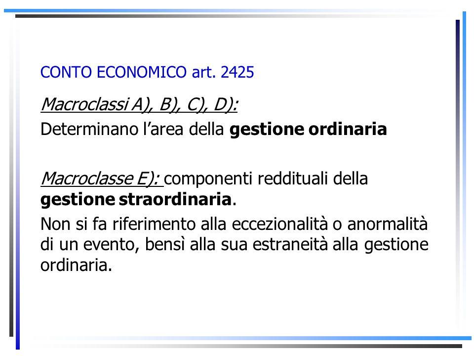 Macroclassi A), B), C), D):