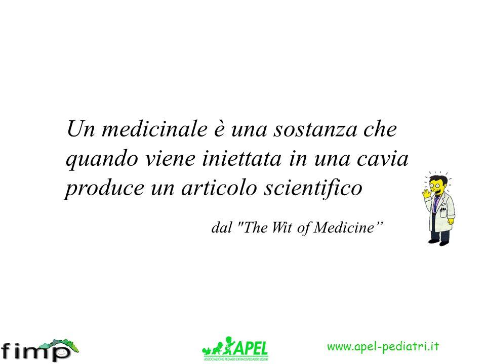 Un medicinale è una sostanza che quando viene iniettata in una cavia