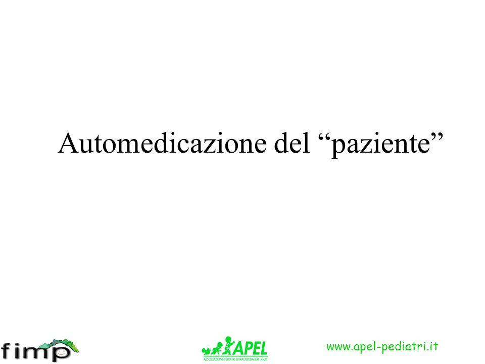 Automedicazione del paziente