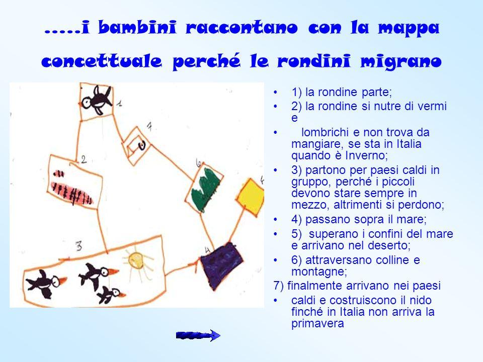 …..i bambini raccontano con la mappa concettuale perché le rondini migrano