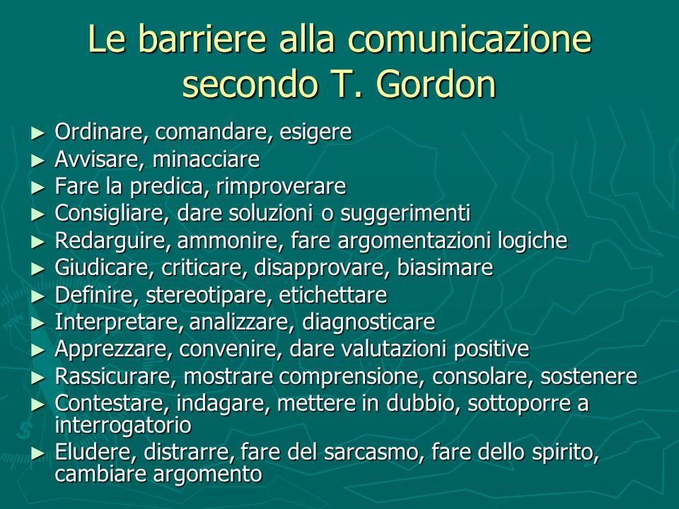 Le barriere alla comunicazione secondo T. Gordon