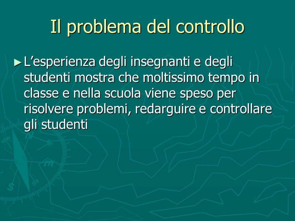 Il problema del controllo