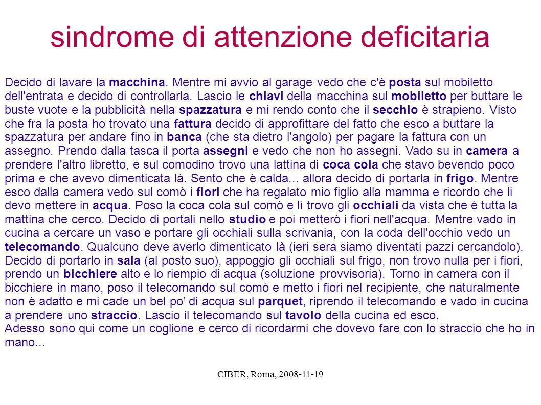 sindrome di attenzione deficitaria
