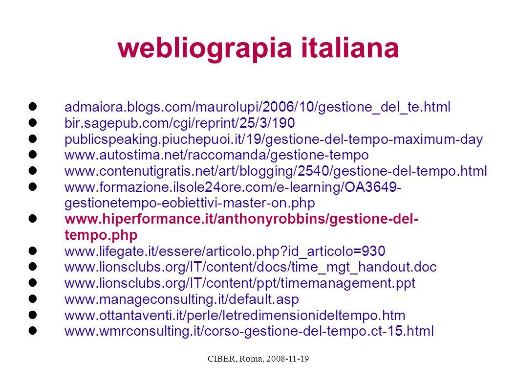 webliograpia italiana
