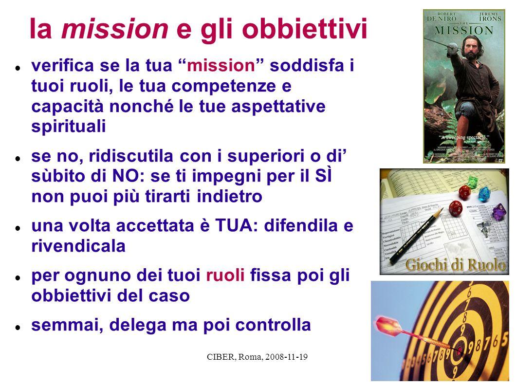 la mission e gli obbiettivi