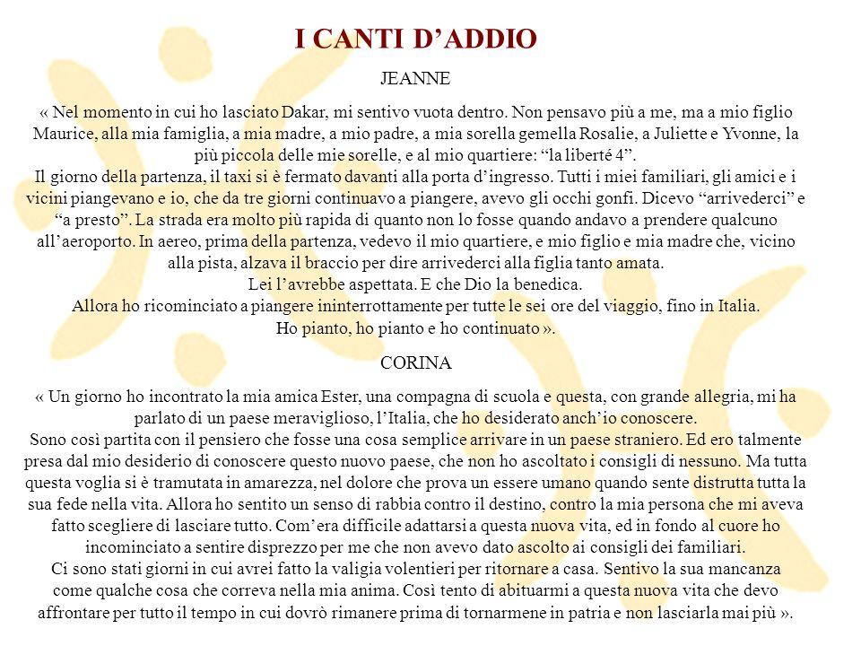 I CANTI D'ADDIO JEANNE CORINA