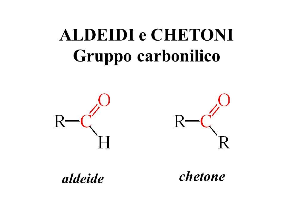 ALDEIDI e CHETONI Gruppo carbonilico