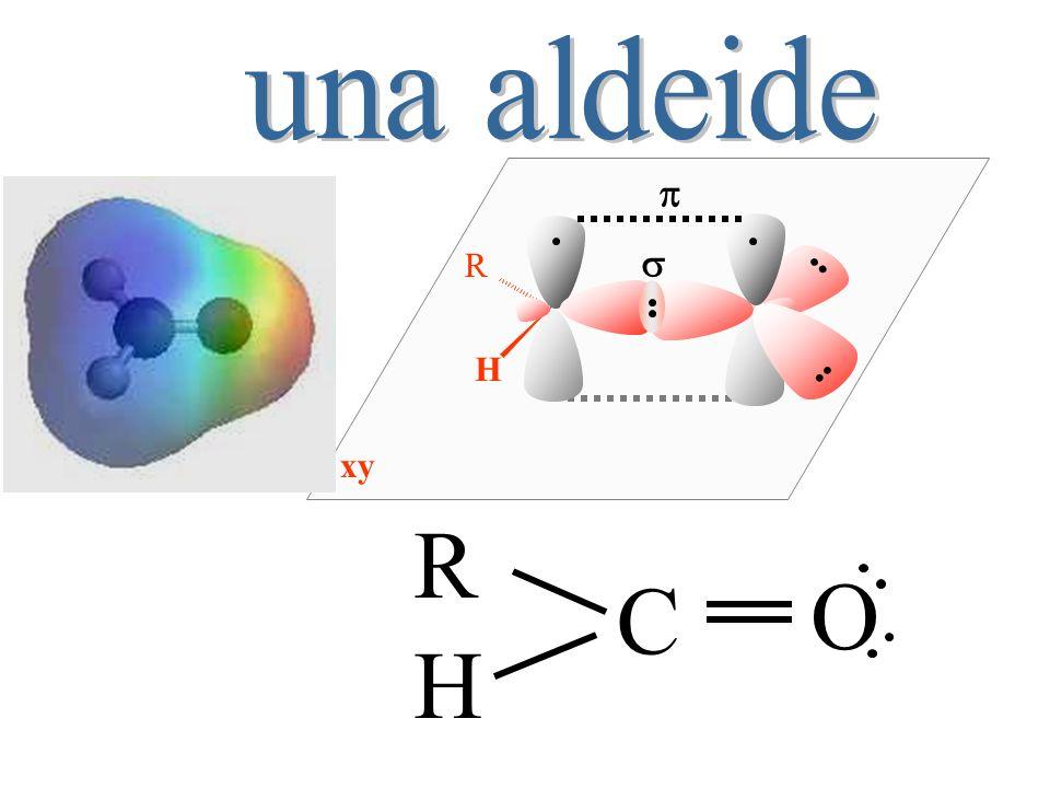 una aldeide H R s p xy R C O H