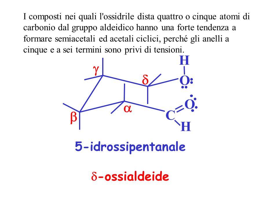 H g d O O a b C H 5-idrossipentanale d-ossialdeide