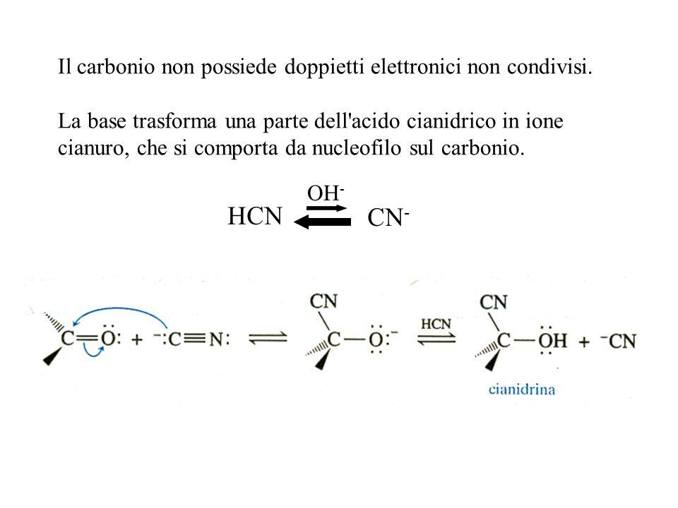 Il carbonio non possiede doppietti elettronici non condivisi