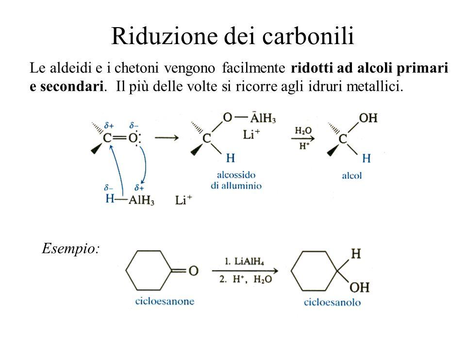 Riduzione dei carbonili