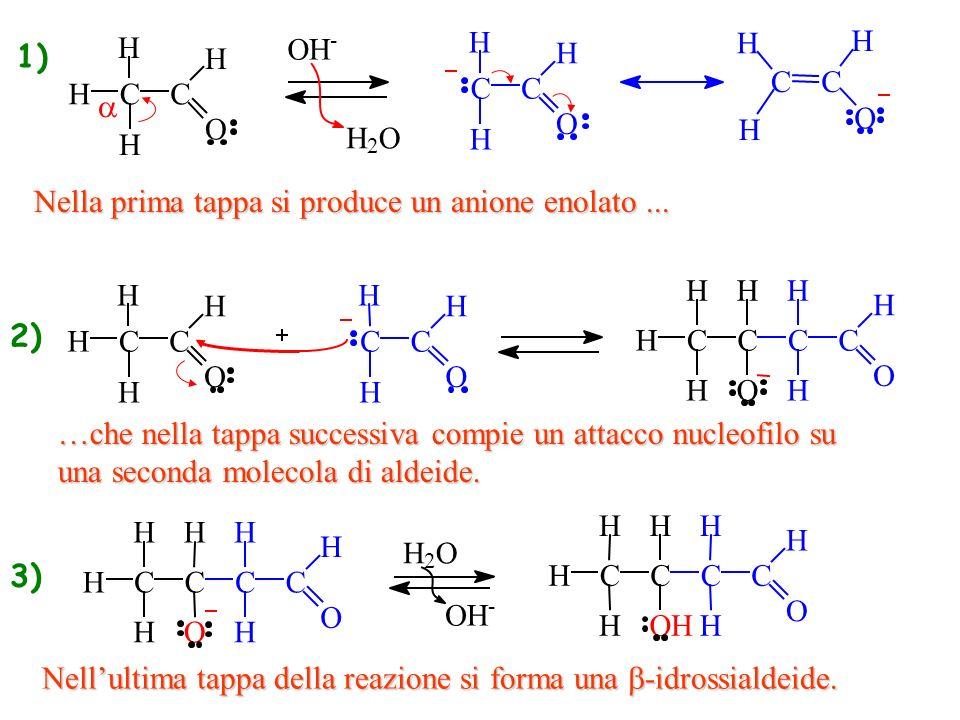 Nella prima tappa si produce un anione enolato ...