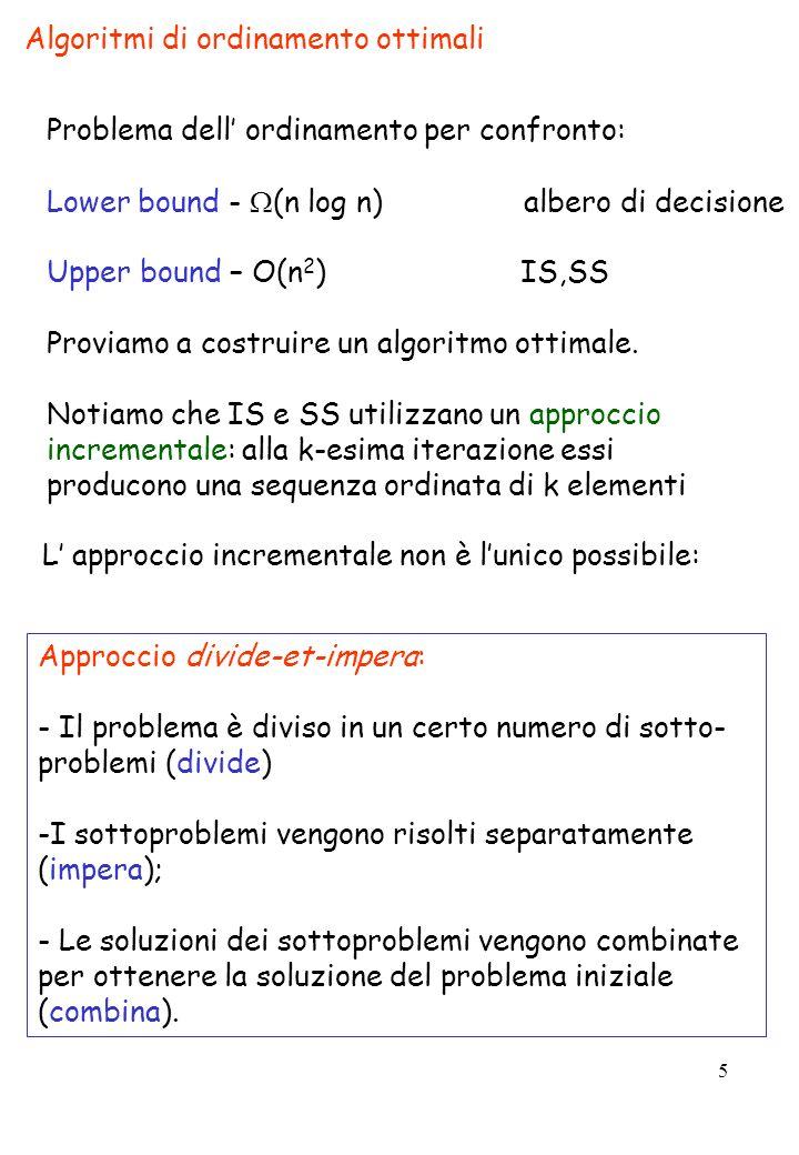 Algoritmi di ordinamento ottimali