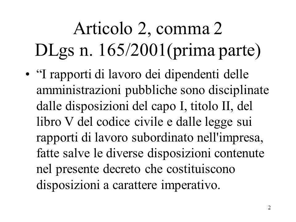 Articolo 2, comma 2 DLgs n. 165/2001(prima parte)