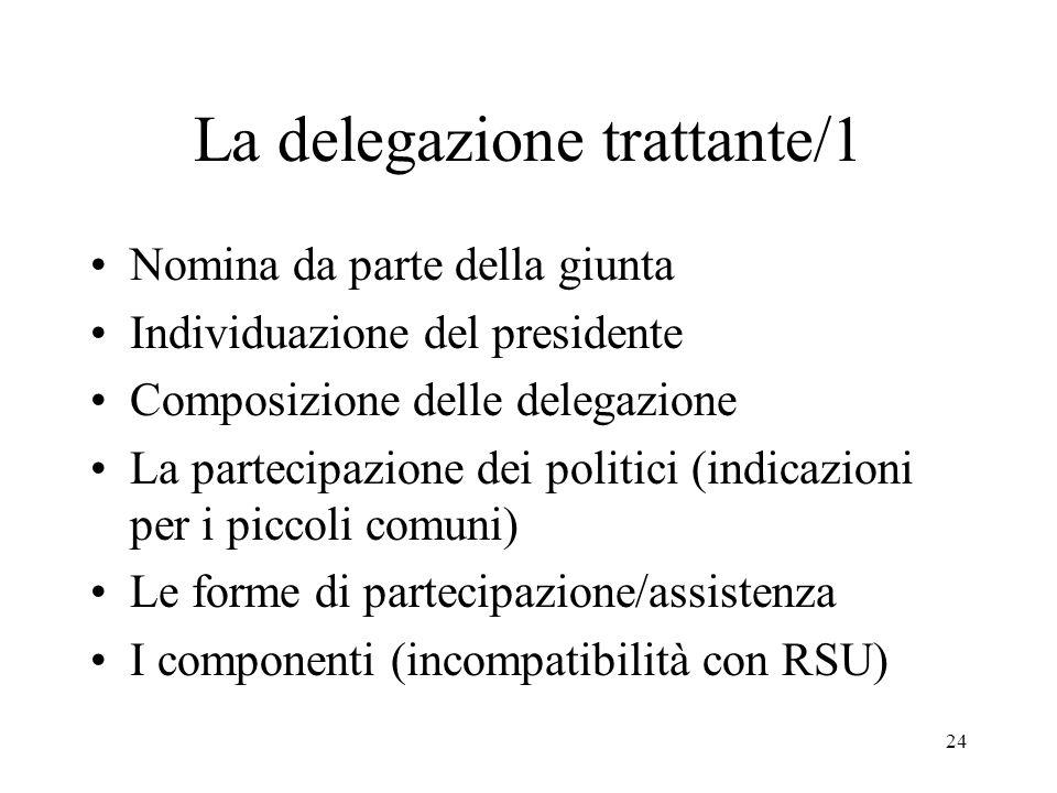La delegazione trattante/1