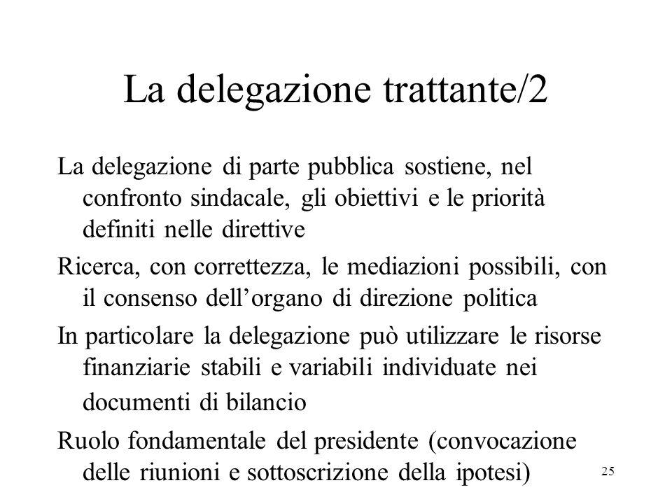 La delegazione trattante/2