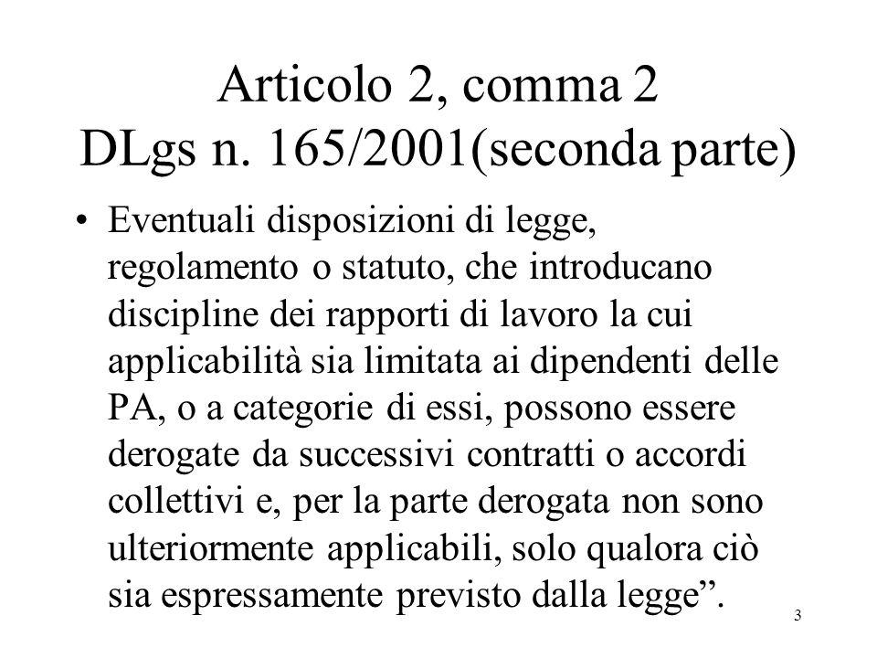 Articolo 2, comma 2 DLgs n. 165/2001(seconda parte)