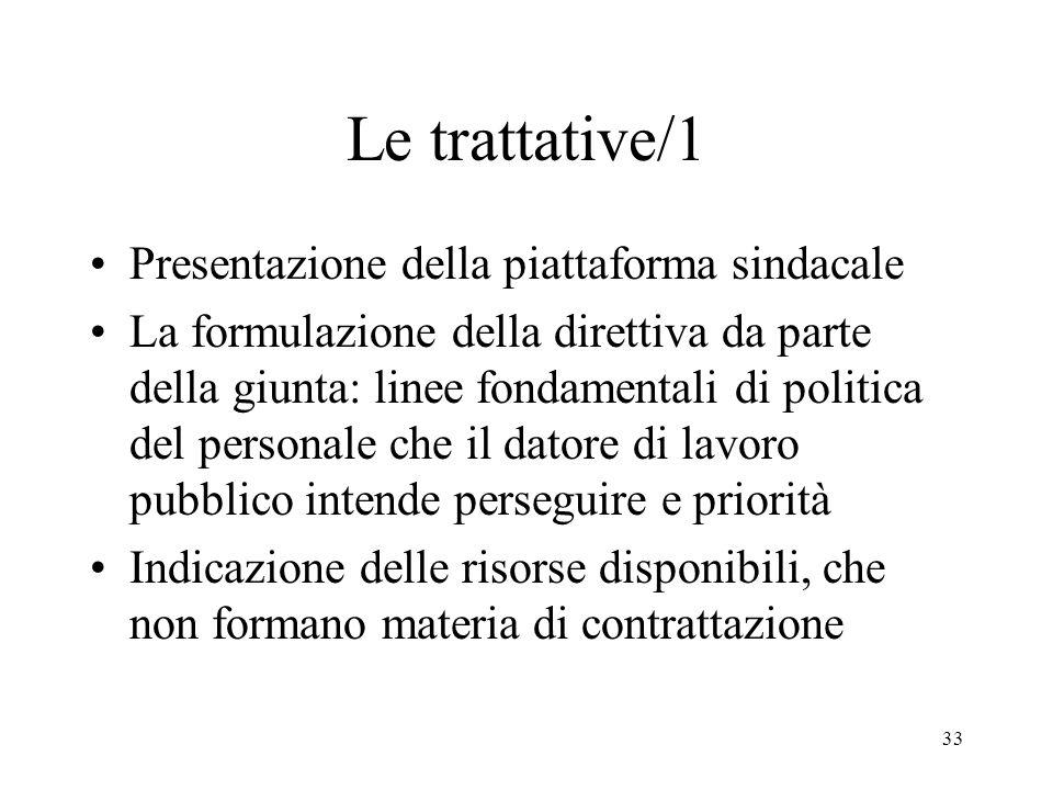 Le trattative/1 Presentazione della piattaforma sindacale