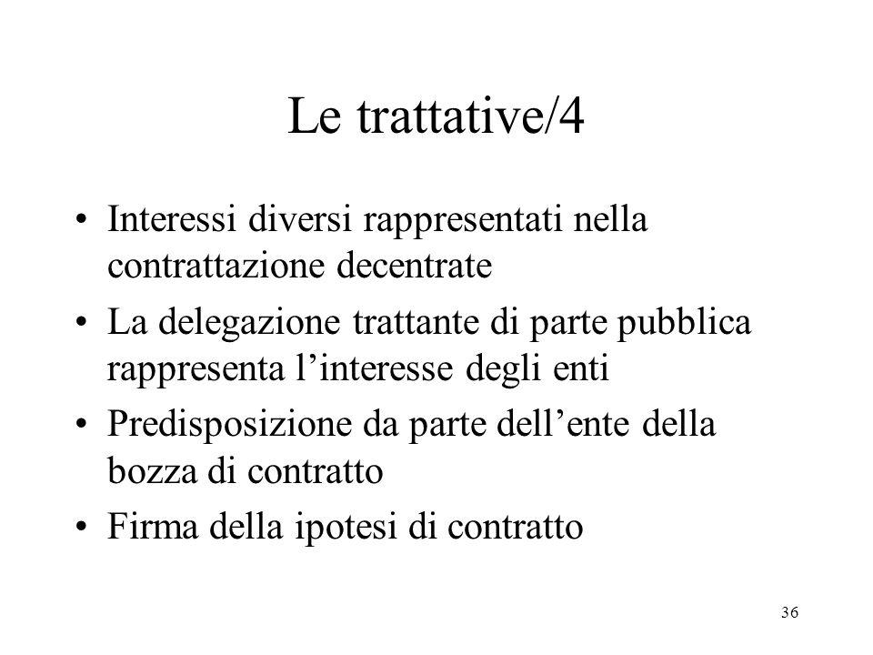 Le trattative/4 Interessi diversi rappresentati nella contrattazione decentrate.
