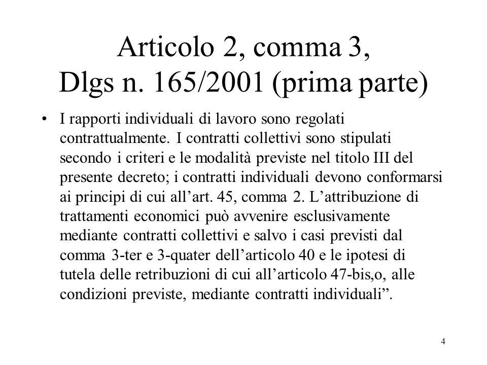 Articolo 2, comma 3, Dlgs n. 165/2001 (prima parte)