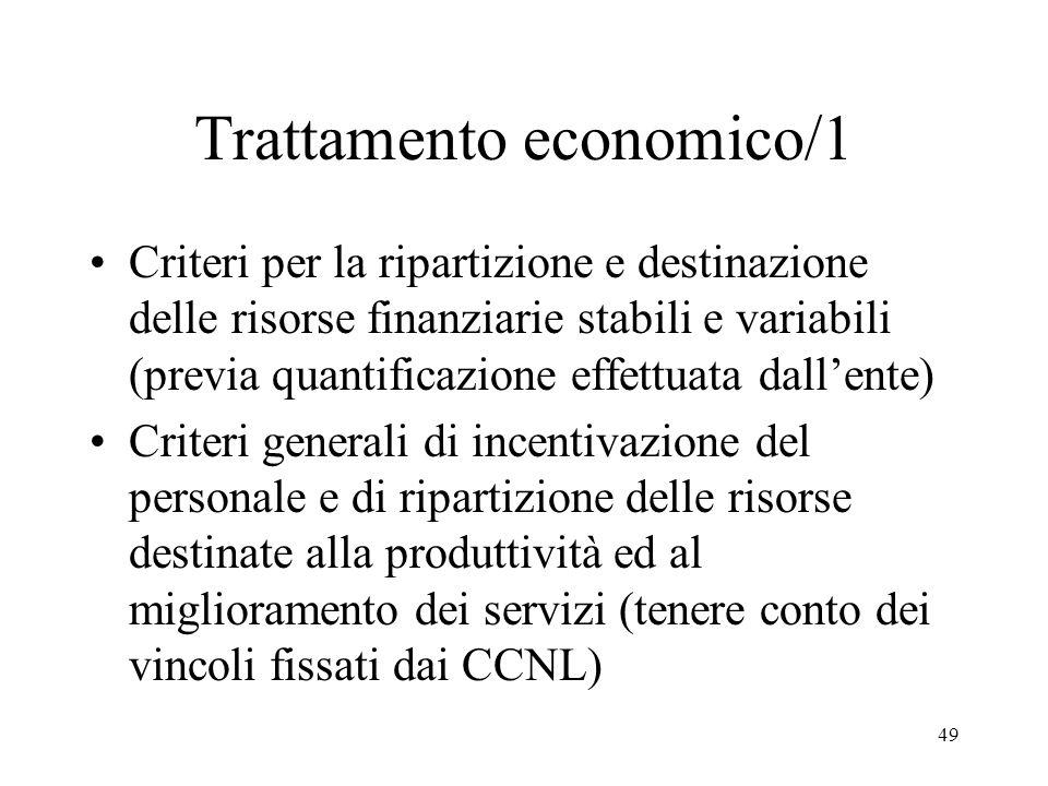 Trattamento economico/1