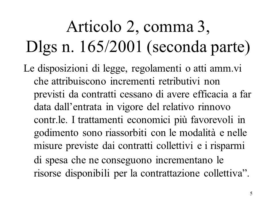 Articolo 2, comma 3, Dlgs n. 165/2001 (seconda parte)