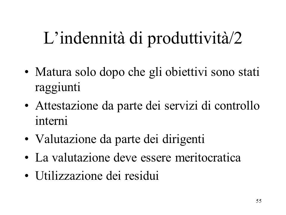 L'indennità di produttività/2