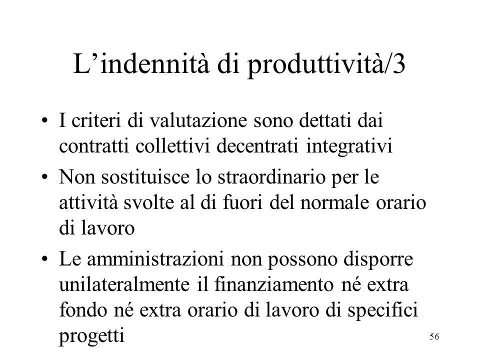 L'indennità di produttività/3