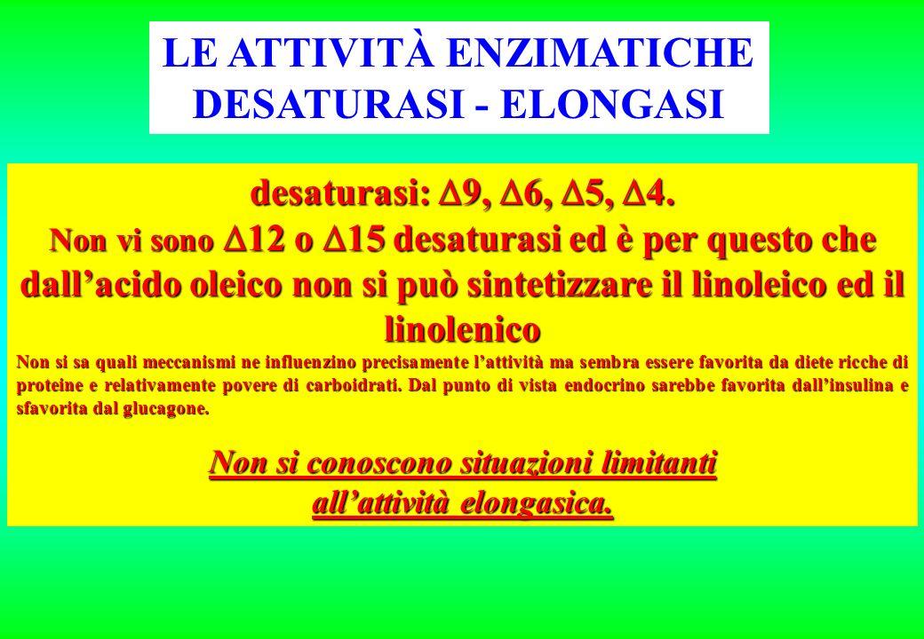 LE ATTIVITÀ ENZIMATICHE DESATURASI - ELONGASI