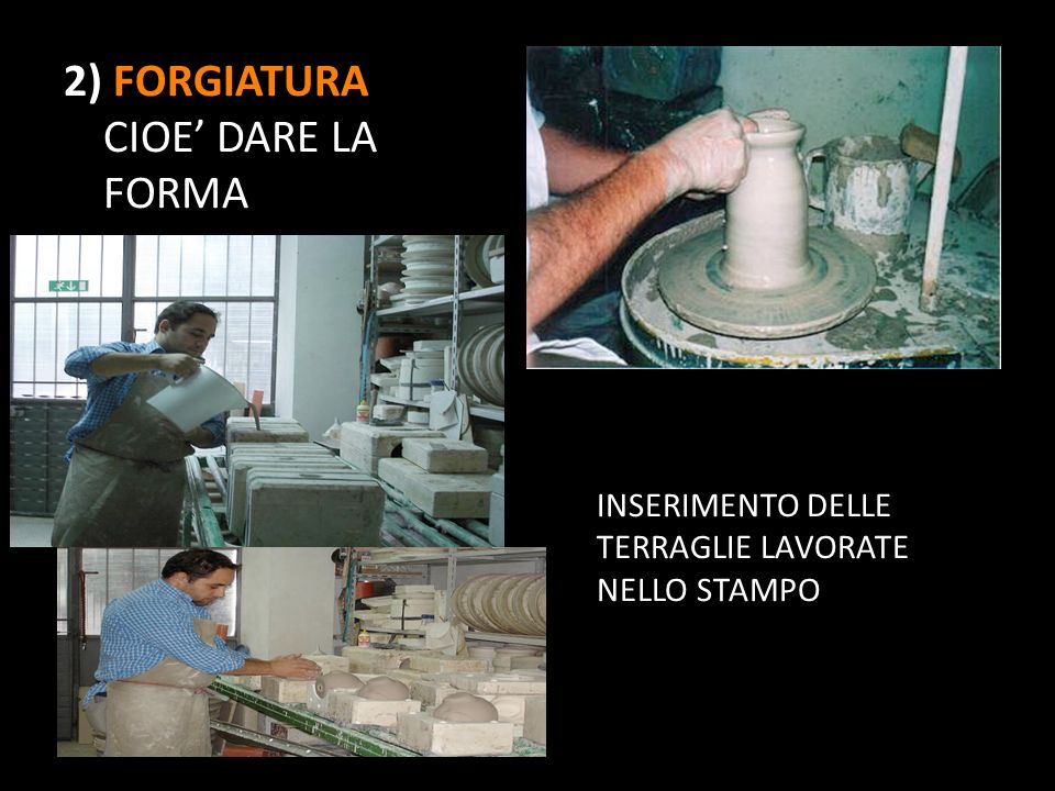 2) FORGIATURA CIOE' DARE LA FORMA