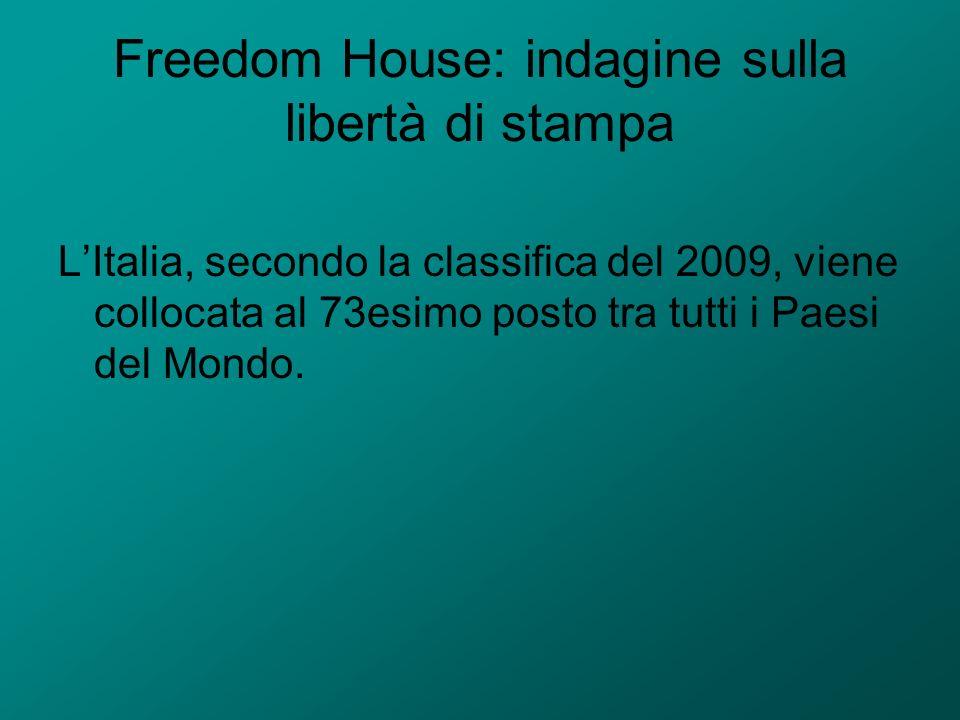 Freedom House: indagine sulla libertà di stampa