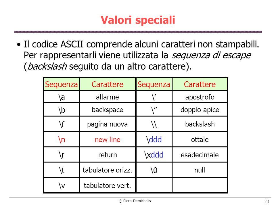 Valori speciali