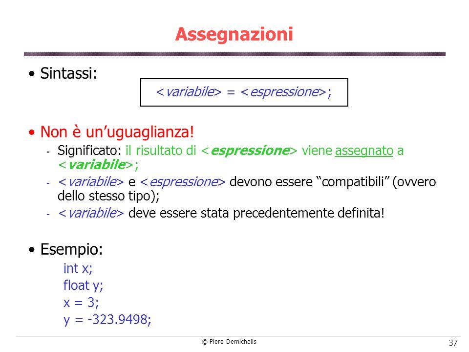 <variabile> = <espressione>;
