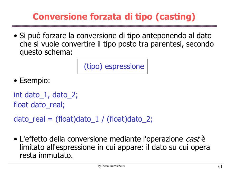 Conversione forzata di tipo (casting)