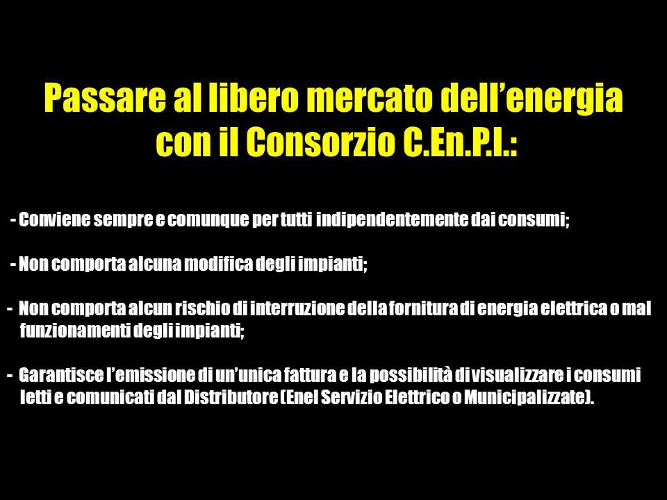 Passare al libero mercato dell'energia con il Consorzio C.En.P.I.:
