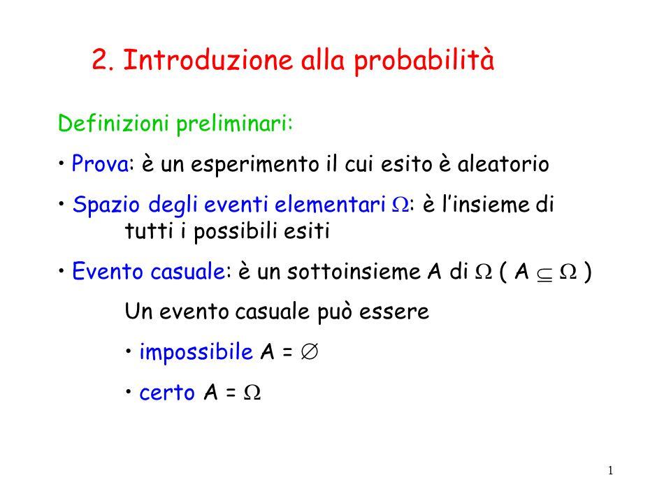 2. Introduzione alla probabilità
