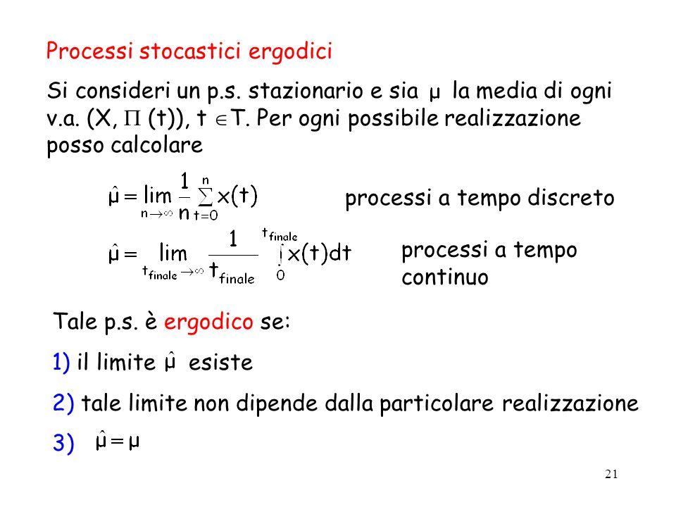 Processi stocastici ergodici