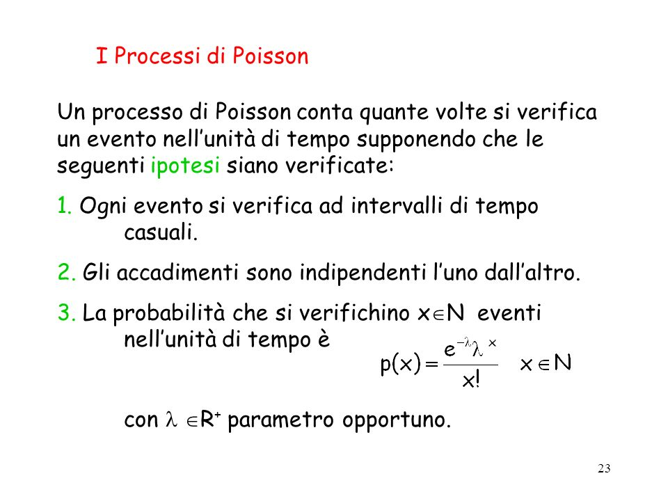 I Processi di Poisson