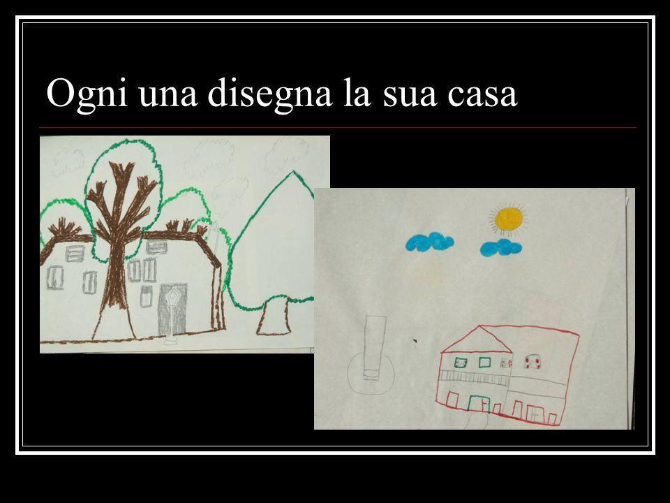 Ogni una disegna la sua casa