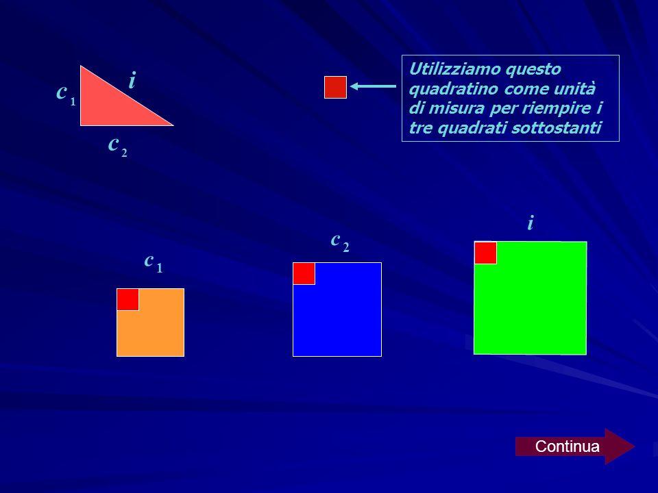Utilizziamo questo quadratino come unità di misura per riempire i tre quadrati sottostanti
