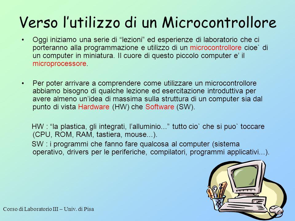 Verso l'utilizzo di un Microcontrollore