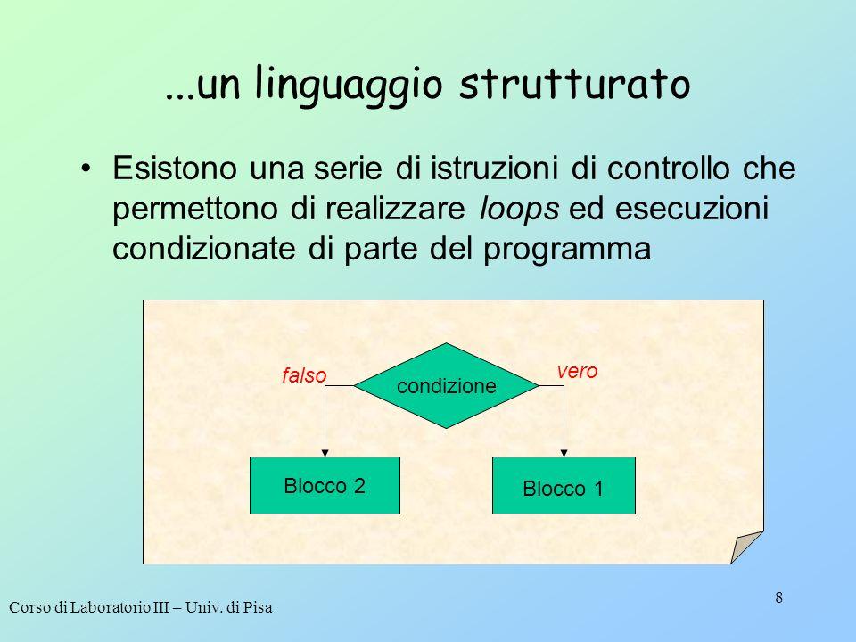 ...un linguaggio strutturato