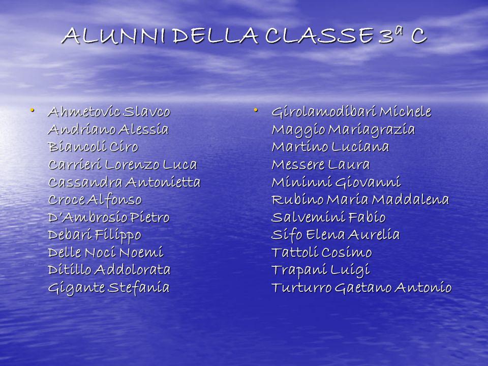 ALUNNI DELLA CLASSE 3a C