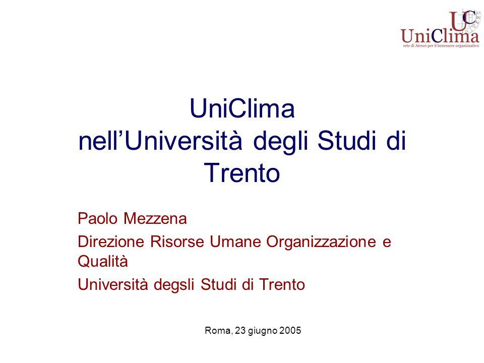 UniClima nell'Università degli Studi di Trento