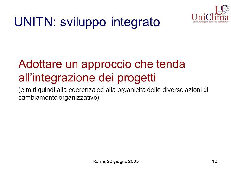 UNITN: sviluppo integrato