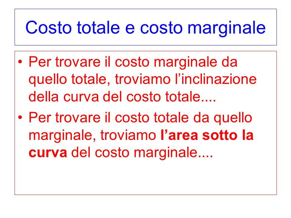Costo totale e costo marginale
