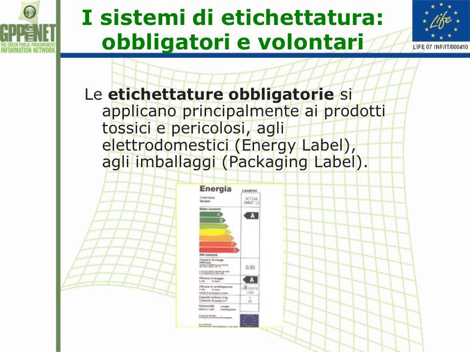 I sistemi di etichettatura: obbligatori e volontari