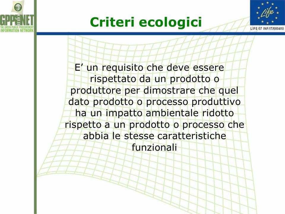 Criteri ecologici
